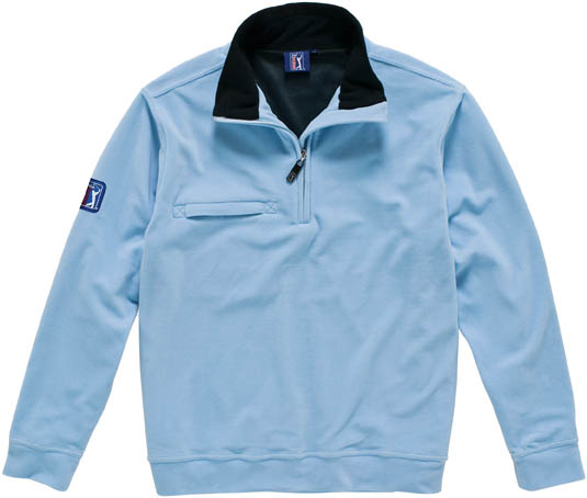 HOLE 1/2 ZIP FLEECE SWEATER