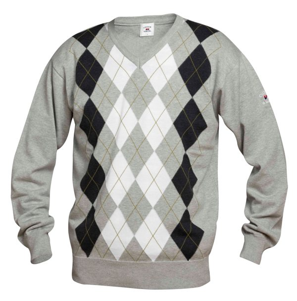 RENTON ARGYLE V-NECK HEREN