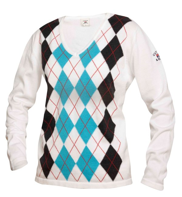 RENTON ARGYLE V-NECK DAMES